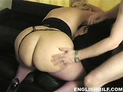 English milf movies - Big ass British housewife in stockings